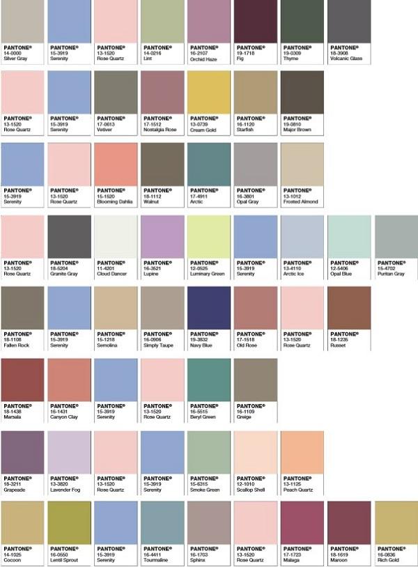 http://www.pantone.com zestawienia z kolorami roku 2016 wg. Pantone